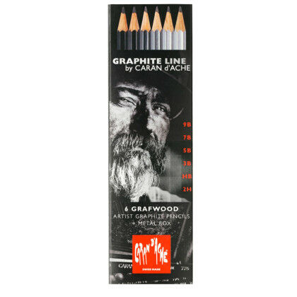 Caran d'Ache Graphite Grafwood 6x