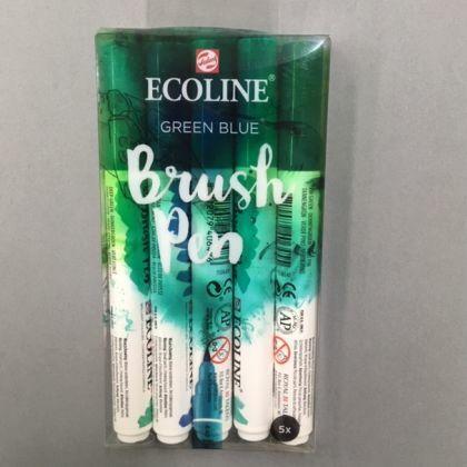 Ecoline Brushpens  Groen-Blauw 6x