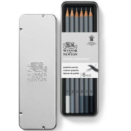 W&N Studio Collectie Grafiet Potloden 6 set