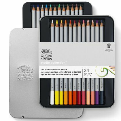 W&N Studio Collectie kleurpotloden 24 set