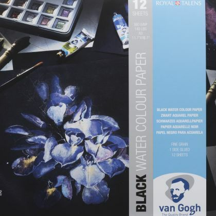 van Gogh zwart aquarelpapier