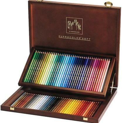 Supracolor houten kist met 80 kleuren