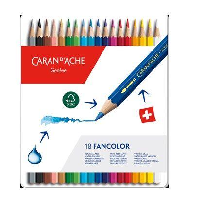 Fancolor kleurpotloden 18x