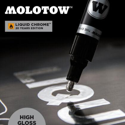 Liquid chrome markers