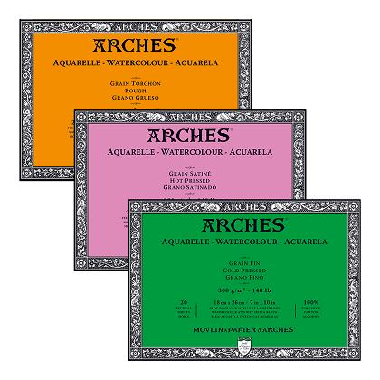 Arches aquarelblokken 4-zijdig verlijmd