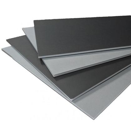 Foamboard zwart/grijs 50x70cm