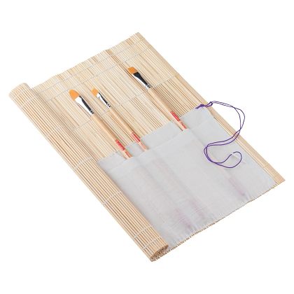 Bamboe penselenmat