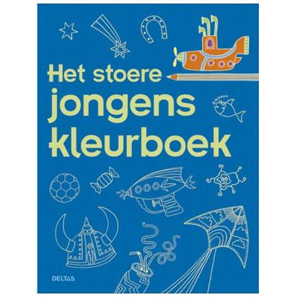 Het stoere jongens kleurboek