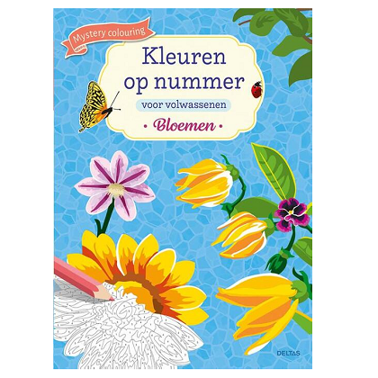 Kleuren op nummer voor volwassenen - Bloemen