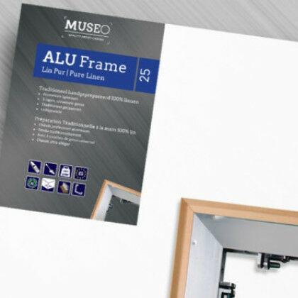 Linnen op aluminium frame