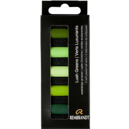 Rembrandt Soft Pastels - weelderige groenen